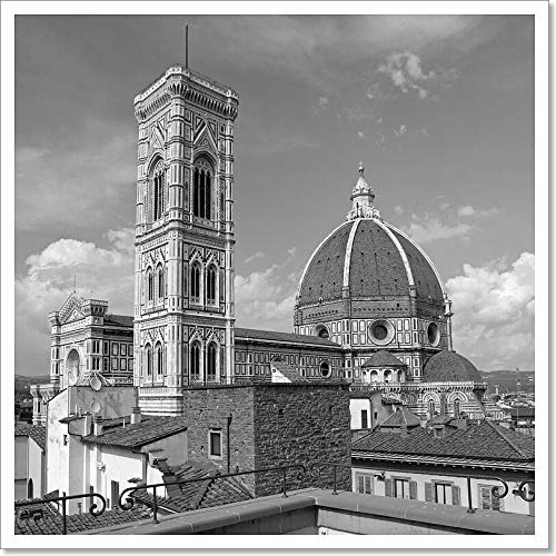Fantastic View of The Basilica Di Santa Maria Del Fiore (Basilica of Saint Mary of The Flower), Florence, Italy, Europe Paper Print Wall Art (20in. x 20in.)