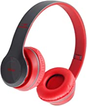 Homyl Headphones Folding Lightweight Headset for Cellphones Tablets Smartphones Laptop Computer PC Mp3/4 - Red