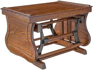 Furniture Barn USA Rustic Gliding Ottoman - Oak in Michael's Cherry Stain