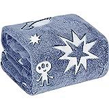 UNUN Glow in The Dark Throw Blanket,Space and Astronaut Soft Warm Cozy Fuzzy Plush Blanket for Kids Teenage Boys Girls Women Best Friend Birthday Christmas (50 x 60 inches Blue)