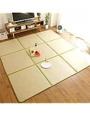 Lemonda カーペット ラッグマット 草編む 涼感マット 夏用 置き畳 滑り止め 折畳み 収納便利 リビング ベッドに使用