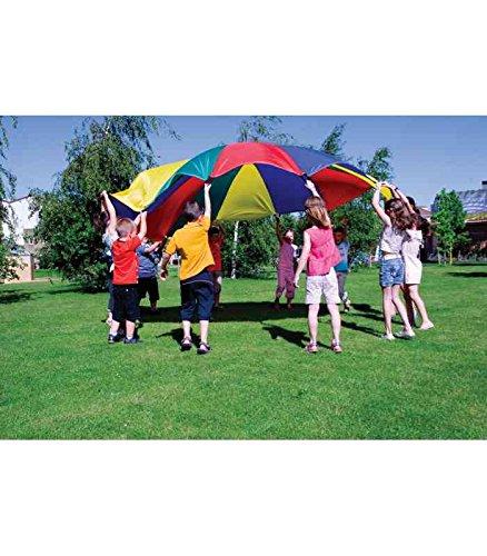Paracaidas amaya de nylon con 20 asas colores del parchis 6 m