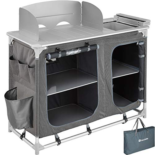 Photo of TecTake 800585 – Camping Kitchen Aluminium, Easy to assemble, Lightweight – different Models (Type 2 | No. 402920)