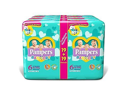 Pampers Baby Dry Extralarge, 114 Pannolini, Taglia 6 (15-30 kg)