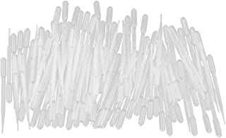 MagiDeal Pack of 100 3ML Plastic Transfer Pipettes Eye Dropper - Essential Oils Pipettes Dropper Lab Make-up Tools