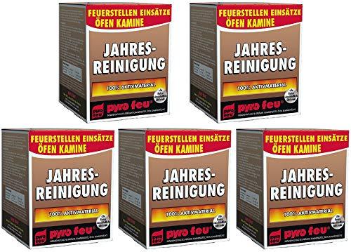 5X Jahresreinigung Entrußer für Ofen & Kamin alle Rohre einschließlich Edelstahl