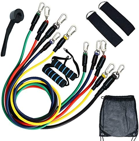 Resistance Band 11pcs Pull Rope Fitness Exercises Resistance Ban