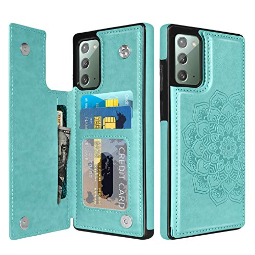 BENTOBEN Wallet Case for Samsung Galaxy Note 20 5G, PU Leather Heavy Duty Rugged Shockproof Protective Cases with Card Slots Cash Holder Phone Case for Samsung Galaxy Note20 6.7' 2020 -Matcha Green