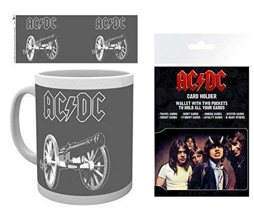 1art1 AC/DC, Canon Foto-Tasse Kaffeetasse (9x8 cm) Inklusive 1 AC/DC EC-Kartenhülle Kartenetui Für Fans Und Sammler (10x7 cm)