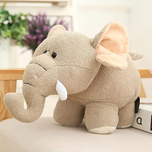 Peluche Super Morbido Realistico Elefante Animali di Peluche Che Abbraccia Cuscino Cuscino Bambola Regalo Di Compleanno Per Bambini 25 Pollici Grigio