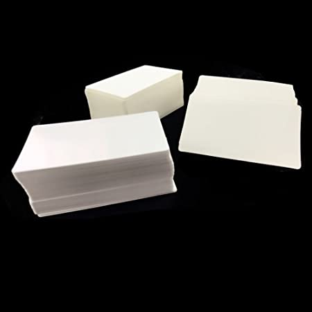 100Pcs Blank Message Card Paper Postcard Word Business Gift Tags AA