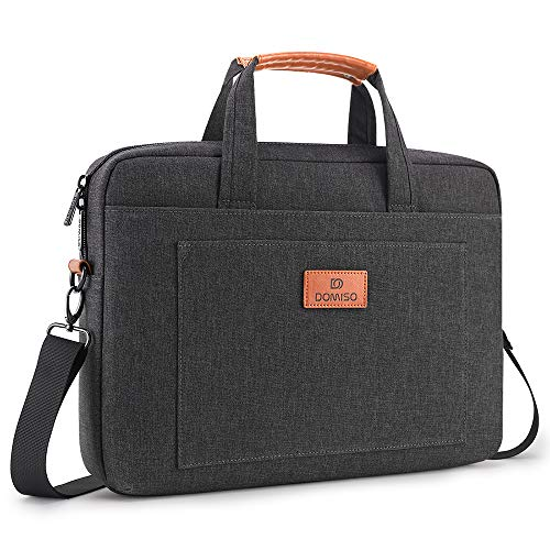 DOMISO 13.3 inch Laptop Sleeve Shoulder Bag Water-Resistant Protective Messenger Bag Business Briefcase Handbag for 13' MacBook Pro Retina/MacBook Air/13.3' Dell Inspiron/XPS 13/Asus/Lenovo/HP