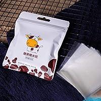 Rouku 500 Hojas Papel de Envoltura de turrón Papel de arroz glutinoso Comestible Papel de Caramelo para Hornear Envoltorio de Caramelo Papel Transparente