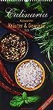 Culinaria Küchenplaner Kräuter und Gewürze 2020 - Küchenkalender (22 x 45) - mit Küchentipps und Rezepten - 5 Spalten - Wandplaner