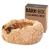 Barkbox 2-in-1 Memory Foam Dog Cuddler Bed | Plush Orthopedic Joint Relief Crate Lounger or Donut Pillow Bed (Cuddler Bed - Small, Sand)