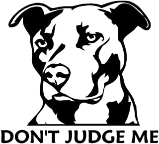 Pitbull Dog Don't Judge Me Car-Styling Truck Decals Reflective Sticker Decor - Black