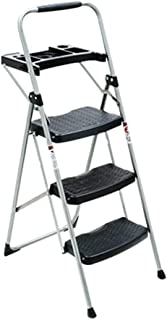 BENCONO Folding 4 Step Ladder Metal Iron Material Thickening Widening Pedal Household Portable Ladder