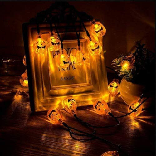 FNCUR Al Aire Libre Luces Decorativas del Patio del Jardín Luz Solar De La Serie De Halloween Cuerdas Cuerdas Luz De Navidad Decoración Cadenas De Luz