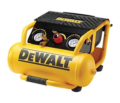 DeWalt DPC10RC Compressor (1500 W, 10 l, 10 bar, 2,0 pk lichtstart-motor, olievrije motor, incl. 10 m luchtleiding)