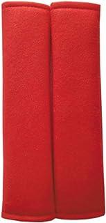 SUNTRADE Autositzgurtpolster Abdeckungssatz, 2er Pack Soft Car Safety Sicherheitsgurt Schulterpolster für Erwachsene und Kinder (Rot)