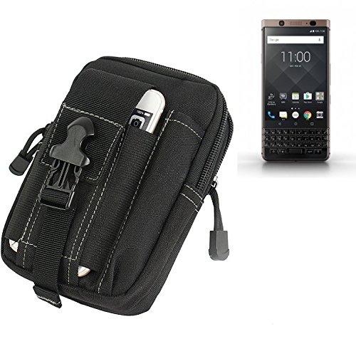 K-S-Trade Gürtel Tasche Für BlackBerry KEYone Bronze Edition Gürteltasche Holster Schutzhülle Handy Hülle Smartphone Outdoor Handyhülle Schwarz Zusatzfächer