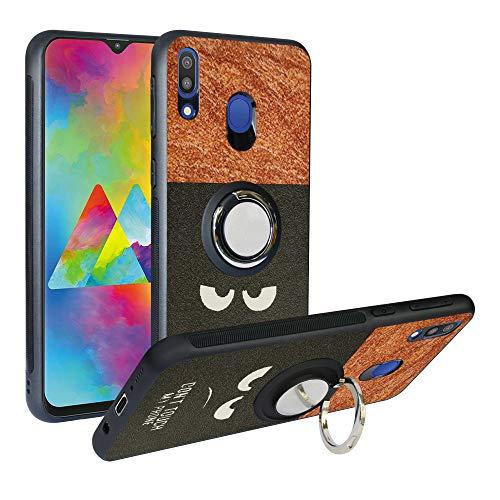 Funda para Samsung Galaxy M20 2019, Fashion Design [Antigolpes] con 360 Anillo iman Soporte, Resistente a los arañazos TPU Funda Protectora para Galaxy M205,Do Not Touch