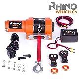 Rhino Cabrestante Eléctrico 1360 Kg - Sistema Inalámbrico- 12V - Cuerda Sintético...