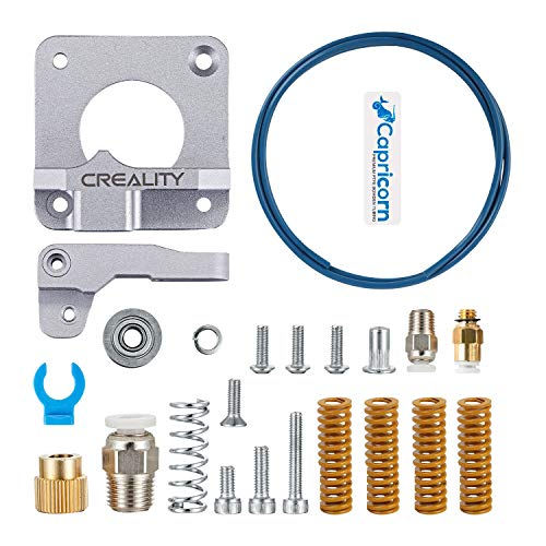 Upgraded MK8 Metal Feeder Extruder Frame Pneumatic Couplers and 0.4mm Brass Nozzles for for Ender 3//3 Pro//5 CR-10 //10S//20 Creality Upgrade 3D Printer Kit with Capricorn Premium XS Bowden Tubing