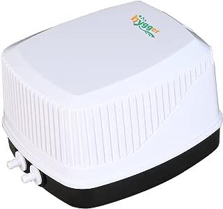 hygger Quiet High Output 10W Aquarium Air Pump, Oxygen Pump Air Aerator Pump Fish Tank 30-600 Gallon, 2 Air Outlets (4mm), 250GPH, 100-120V, 0.03MPa