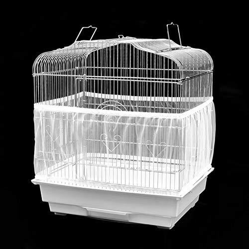 Pbzydu 【𝐑𝐞𝐠𝐚𝐥𝐨 𝐝𝐞 𝐍𝐚𝒗𝐢𝐝𝐚𝐝】 Cubierta de Malla de Jaula de pájaros de Gasa Lavable, Protector de recolector de Semillas, Protector de pájaro para Jaula de pájaros(Medium)