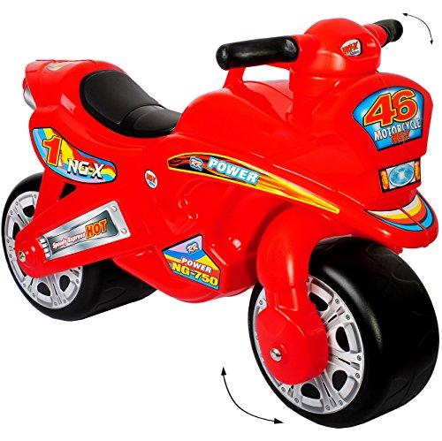 """alles-meine.de GmbH XL Kinderlaufrad -  Motorrad - ROT / 46 \"""" - Lauflernrad - für Innen & Außen - extra breite Reifen - selbstständig stehend - Rutschfahrzeug / Rutschauto - Lau.."""