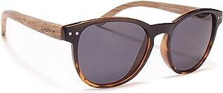 Coyote Eyewear Beachwood Polarized Sunglasses, Black Tortoise Fade, Gray, Medium/Large