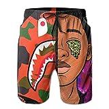 Men & Boys People Wearing Cartoon Swim Trunks Swimwear for Beach...