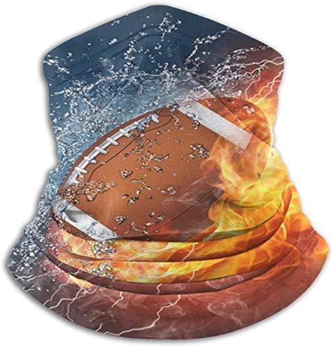 Bgejkos American Football In Fire & Water Nackenschutz Wärmer Winddichte Skimaske Staubfreie Ohrenwärmer Stirnband Schweres Anti-UV
