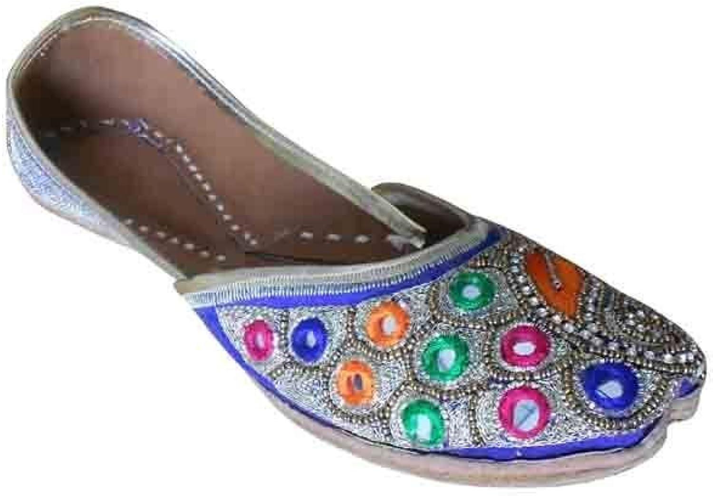 Kalra Creations Traditional Handmade Indian Women shoes Designer Juti Mojari Ballet Flat
