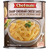 Chef-mate Sharp Cheddar Cheese Sauce and Queso, Superbowl Party Supply, 6 lb 10 oz (# 10 Can Bulk)
