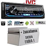 Autoradio Radio JVC KD-X151   MP3   USB   Android 4x50Watt - Einbauzubehör - Einbauset für Skoda Fabia 1 - JUST SOUND best choice for caraudio