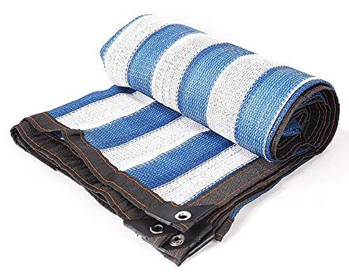 Tarpaulin-CZY schaduwnet, versleuteling, blauw, zonwering, schaduwnet, isolatie, net, ademende bescherming, grommet multi-grootte aanpasbaar 3m×8m blauw en wit.