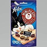 FELIX Mini-Filetti Katzen-Leckerlies mit 90 Prozent Fleischanteil, mit Huhn & Rind, 7er Pack (7 x 40g)
