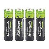 4 Satz Aa: Mit Easy Open Verpackung für Ihre Bequemlichkeit, das 4 Packung mit AA-Batterien haben eine Kapazität von 800Mah. Aufladevorrichtung separat erhältlich. Wiederaufladbare: Die wiederaufladbare Hybrid-Technologie (Nickel-Metall-Hydrid) ermög...