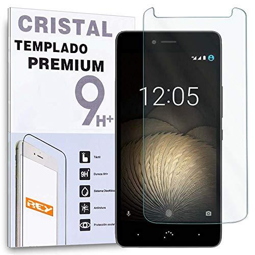 REY Protector de Pantalla para BQ AQUARIS V Plus/BQ V+ / VS Plus/VS+, Cristal Vidrio Templado Premium