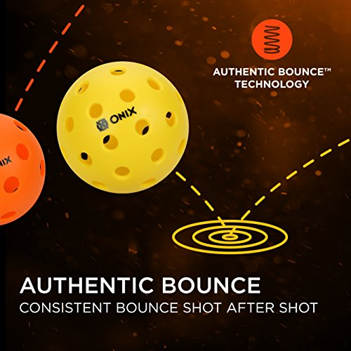 Onix Pure 2 Indoor Pickleball Balls - (3-Pack, Yellow)