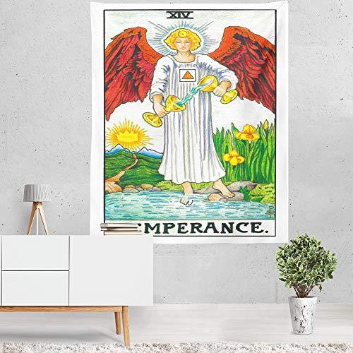 Tapestry Wall Hanging,Astrologie Tarot Die Temperance,Vintage Psychedelischen Antiken Mythos Spirituelle Retro Fabric, Große Böhmische Kunst Hängenden Tuch Für Schlafzimmer Wohnzimmer, 150 × 100 cm