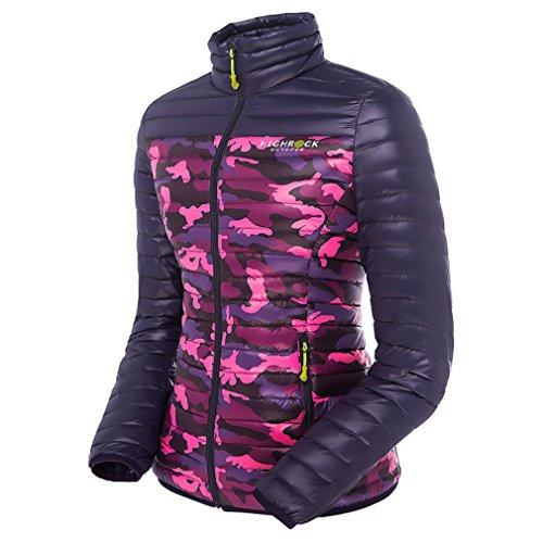 emansmoer Femme Puffer Packable Ultra léger Doudoune Veste vers Le Bas Coupe-Vent Outdoor Veste de Camping Randonnée (Medium, Camo)