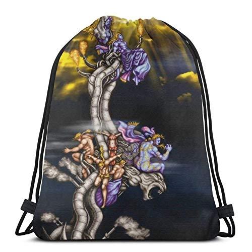 Kefka Stuff!! Drstring Backpack Gym Sack Pack Solid Cinch Pack Sinch Sack Sport String Bag