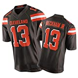 SFVE Beckham Jr Rugby Juego Jersey, 13# Camiseta de fútbol Americano de Browns Men's, Ideal para el Uso Diario y la Competencia de Rugby Black-L