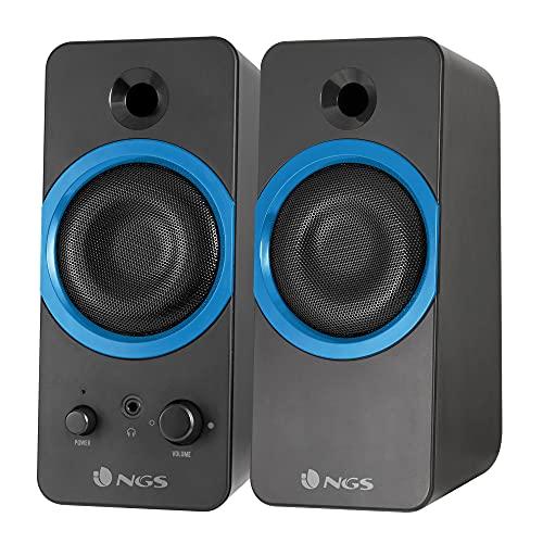 NGS GSX-200 - Altavoces Stereo Gaming con Potencia de 20 W y Bajos Supergraves