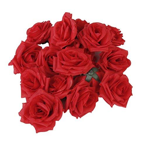 Winomo Rote Köpfe für künstliche Rose Knospen Blumen 20ST