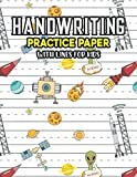 Handwriting Practice Paper With Lines For Kids: Stars And Moon Handwriting Practice Paper With Dotted Lined Sheets for Kids, Kindergarteners, Preschoolers And toddlers