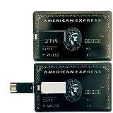 【アメリカンエキスプレス】センチュリオンブラックカードタイプ USBカード 財布に収納可能で紛失を防ぎ常備できる便利なカード型USBメモリ 32GB 64GB アメックス AMERICAN EXPRESS (32GB, ブラック)